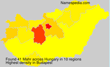 Surname Mahr in Hungary