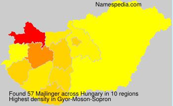 Surname Majlinger in Hungary