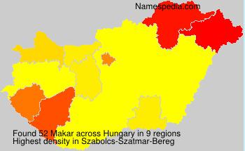 Surname Makar in Hungary