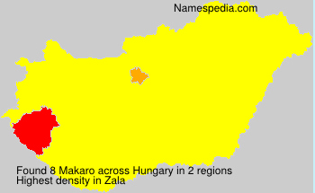 Surname Makaro in Hungary