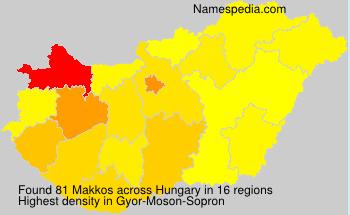 Surname Makkos in Hungary