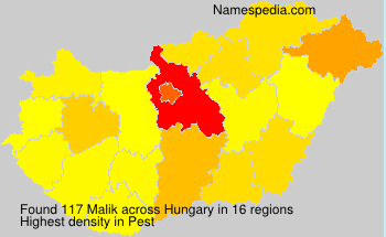 Surname Malik in Hungary