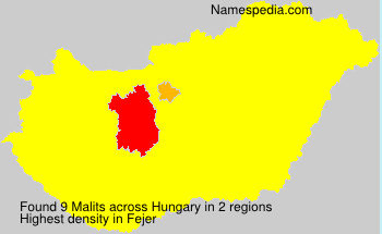 Surname Malits in Hungary
