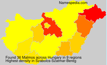 Surname Malmos in Hungary