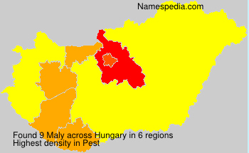 Surname Maly in Hungary