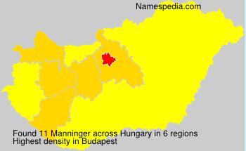 Familiennamen Manninger - Hungary