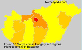 Surname Manya in Hungary