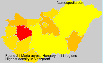 Surname Maria in Hungary