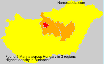 Surname Marina in Hungary