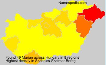 Familiennamen Marjan - Hungary