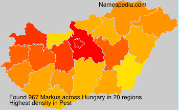 Surname Markus in Hungary