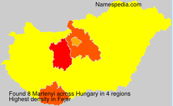 Surname Martenyi in Hungary