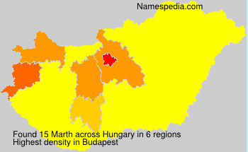 Surname Marth in Hungary