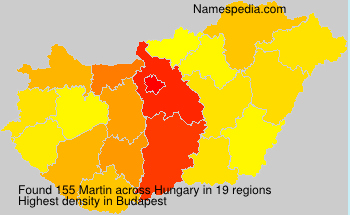 Surname Martin in Hungary