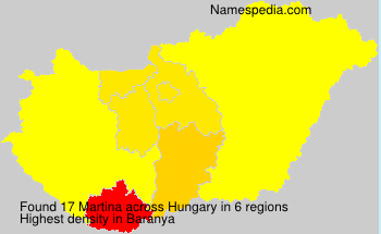 Surname Martina in Hungary