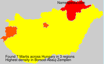 Surname Martis in Hungary