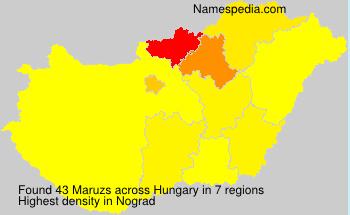 Familiennamen Maruzs - Hungary