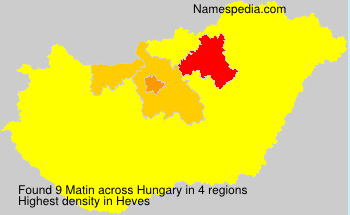 Surname Matin in Hungary