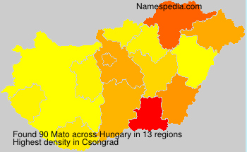 Surname Mato in Hungary