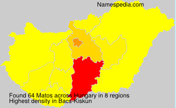 Surname Matos in Hungary