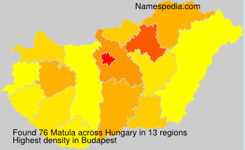 Surname Matula in Hungary