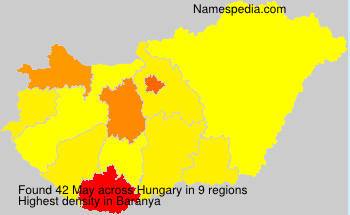 Surname May in Hungary