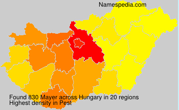 Surname Mayer in Hungary