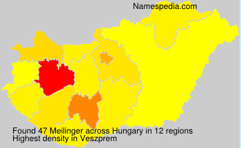 Surname Meilinger in Hungary