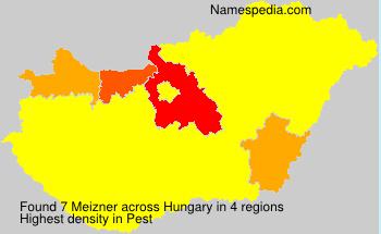 Surname Meizner in Hungary