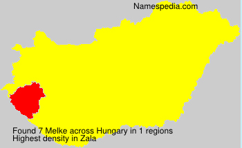 Surname Melke in Hungary