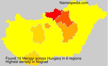 Familiennamen Mengyi - Hungary