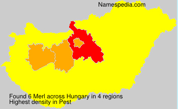 Surname Merl in Hungary
