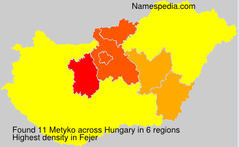Surname Metyko in Hungary