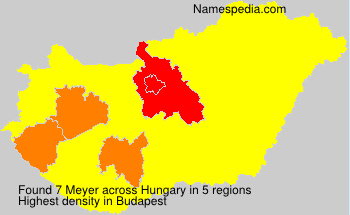 Surname Meyer in Hungary