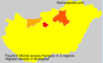 Surname Michel in Hungary