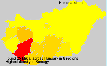 Surname Miklai in Hungary