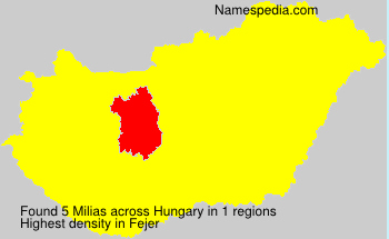 Surname Milias in Hungary