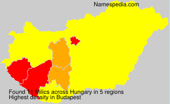 Surname Milics in Hungary