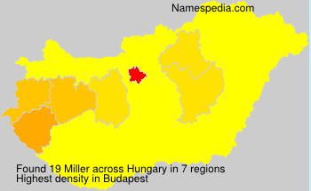 Surname Miller in Hungary