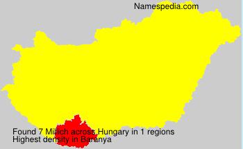 Familiennamen Millich - Hungary