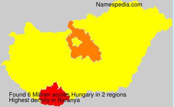 Surname Miltner in Hungary