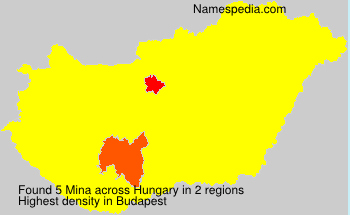 Surname Mina in Hungary