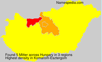 Surname Mitter in Hungary