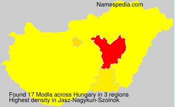 Surname Modla in Hungary