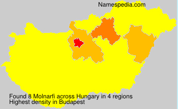 Surname Molnarfi in Hungary