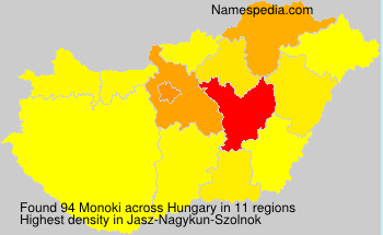 Surname Monoki in Hungary
