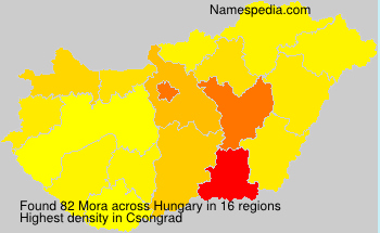 Surname Mora in Hungary