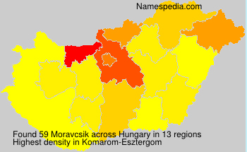 Surname Moravcsik in Hungary