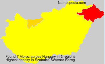 Surname Moroz in Hungary