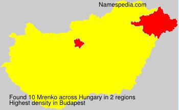 Surname Mrenko in Hungary